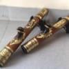 Điếu Trúc Mini Bọc Đồng Hoa Văn